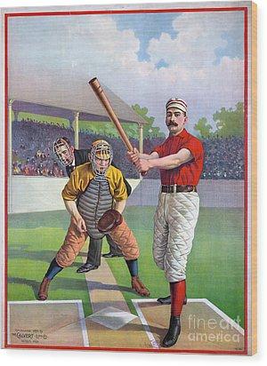 Baseball Game, C1895 Wood Print by Granger