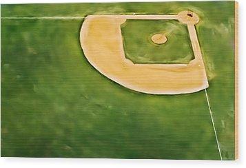 Baseball Wood Print by Patrick M Lynch