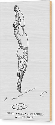 Baseball Player, 1889 Wood Print by Granger