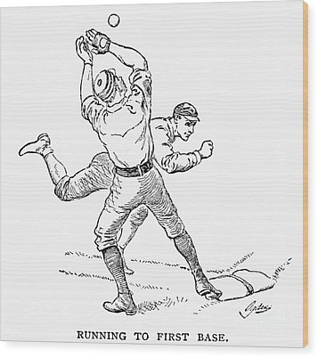 Baseball Players, 1889 Wood Print by Granger