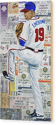 Baseball Tickets Wood Print by Michael Lee
