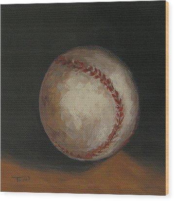 Baseball Wood Print by Torrie Smiley