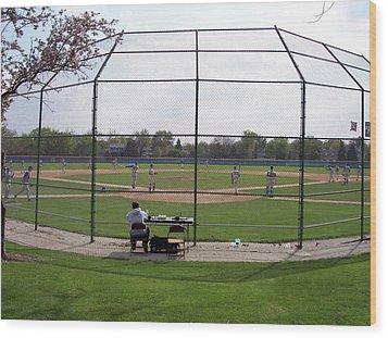 Baseball Warm Ups Wood Print by Thomas Woolworth