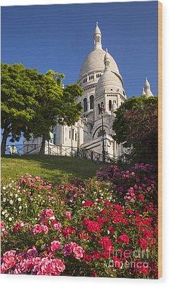 Basilique Du Sacre Coeur Wood Print by Brian Jannsen