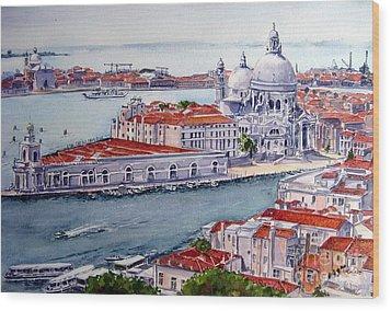 Basillica Di Santa Maria Della Salute Wood Print by Ronald Tseng
