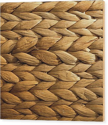Basket Weave Wood Print by Peter Chadwick LRPS