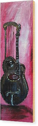 Wood Print featuring the painting Bass  2 by Amanda Dinan