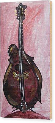 Wood Print featuring the painting Bass by Amanda Dinan
