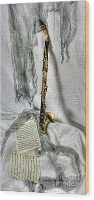 Bass Clarinet Wood Print by Dan Stone