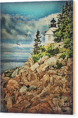 Bass Harbor - Acadia Np Wood Print by Lianne Schneider