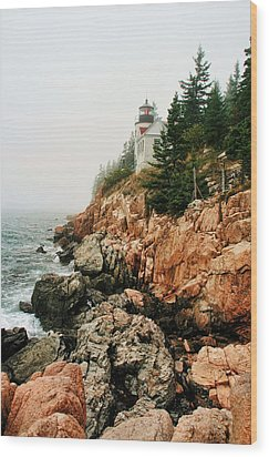 Bass Harbor Light Wood Print