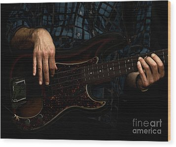 Bass Side Blues Wood Print by Steven Digman