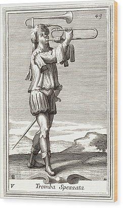 Bass Trombone, 1723 Wood Print by Granger