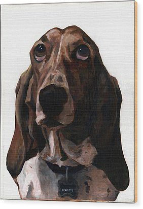 Basset Hound Named Coquette Wood Print