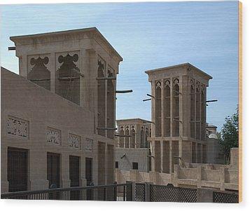 Wood Print featuring the photograph Bastakiah Quarter by Steven Richman