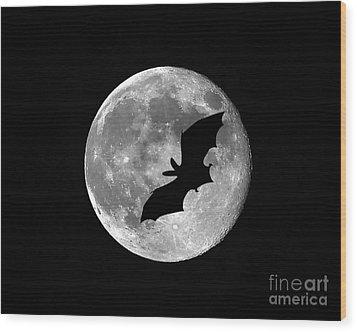 Bat Moon Wood Print by Al Powell Photography USA