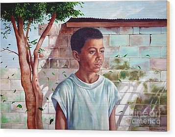 Bata The Filipino Child Wood Print