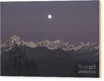 Wood Print featuring the photograph Bathed In Moonlight by Fotosas Photography