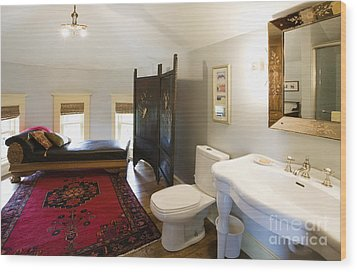 Bathroom With Sitting Area Wood Print by Andersen Ross