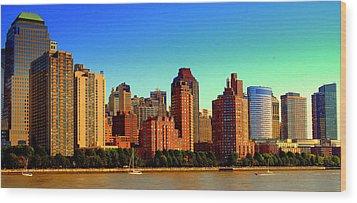 Battery Park City New York Ny Wood Print