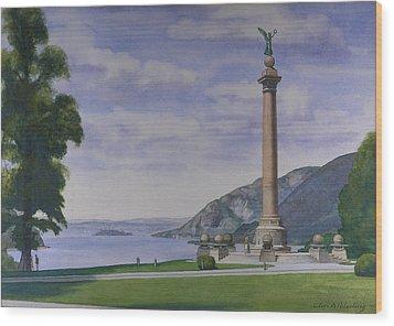 Battle Monument  Wood Print by Glen Heberling