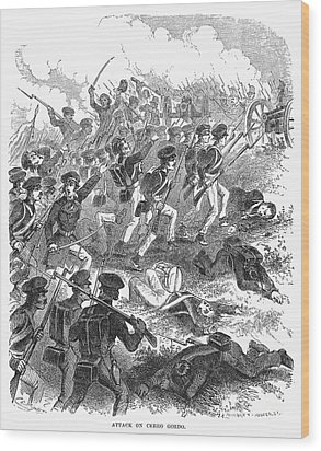 Battle Of Cerro Gordo Wood Print by Granger