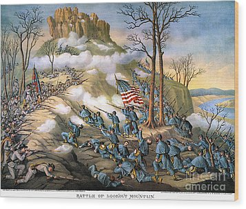 Battle Of Lookout Mount Wood Print by Granger