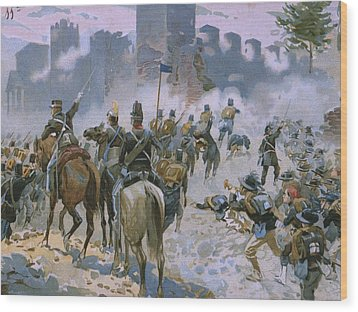 Battle Of Solferino And San Martino Wood Print by Italian School
