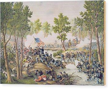 Battle Of Spottsylvania May 1864 Wood Print by American School