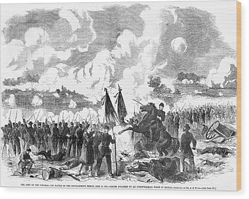 Battle Of The Chickahominy Wood Print by Granger