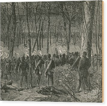 Battle Of The Wilderness, 1864 Wood Print by Photo Researchers