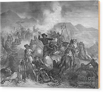 Battle On The Little Big Horn, 1876 Wood Print by Photo Researchers
