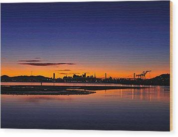 Bay Area Sunset Wood Print by Richard Leon