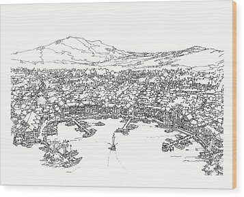 Bayfront Wood Print by Andrew Drozdowicz
