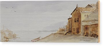 Bayside Village Wood Print
