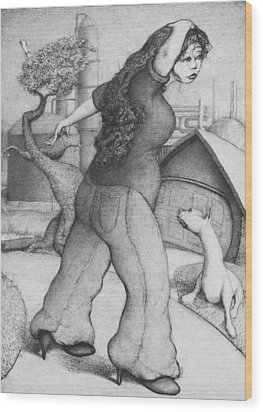 Baytown Girl Wood Print by Louis Gleason