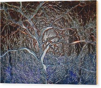Bb's Tree 3 Wood Print