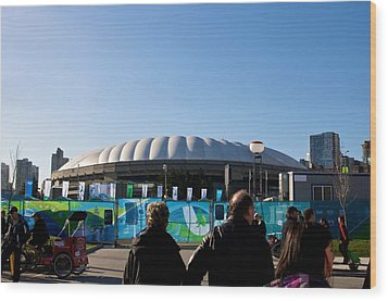 Wood Print featuring the photograph Bc Place by JM Photography