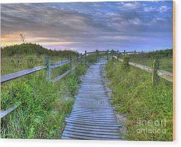 Beach Access Wood Print by John Loreaux