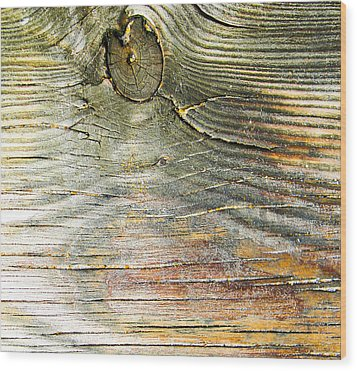 Beach Boardwalk Abstract Wood Print by Christy Usilton