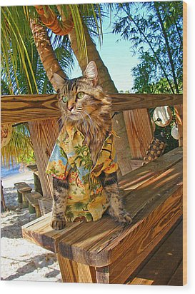 Wood Print featuring the photograph Beach Bum Chic by Joann Biondi