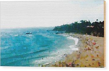 Beach Day Wood Print