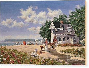 Beach Days Wood Print by Michael Swanson