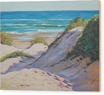 Beach Dunes Wood Print by Graham Gercken
