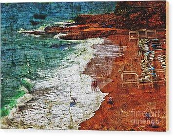 Beach Fantasy Wood Print by Madeline Ellis