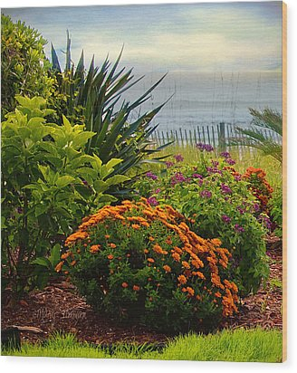 Wood Print featuring the photograph Beach Garden by Mary Timman