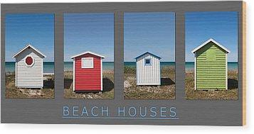Beach Houses Wood Print
