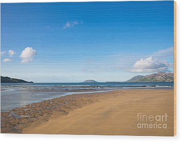 Beach Ireland Wood Print by Andrew  Michael