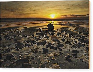 Beach Morning Glory Wood Print by Svetlana Sewell