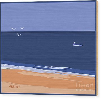 Beach Wood Print by Nedunseralathan R